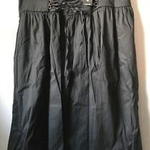 Express Black Cotton Blend Skirt Lace Up Tie Front Size 12 Nwt 69.90 Photo