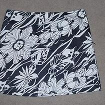 Express Black & Cream Floral Print Mini Stretch Size 3/4 Great Condition Photo