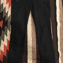 Express Black Denim High Rise Stretch Legging Jeans Size 2r Zipper Pockets Photo