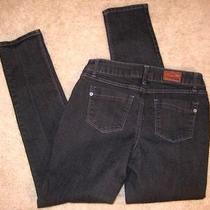 Express Black Denim Skinny Jeans Sz 4 Photo