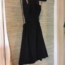 Express Black Dress Open Back Size 0 Photo
