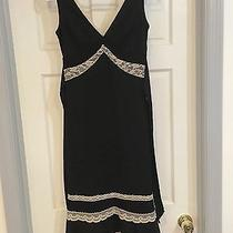 Express Black Dress With Cream Lace Trim Photo
