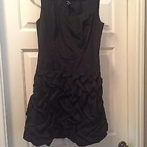 Express Black Dress With Ruching Great for Holidays Size 6 Photo