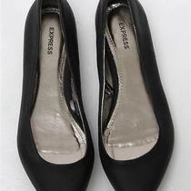 Express Black Faux Leather Flats Sz 8 Photo