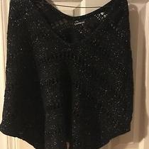 Express Black Glitter Crochet Sweater S Photo
