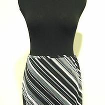 Express Black Gray Micro Mini Skirt Double Layered Striped Size Xs Photo