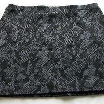 Express Black & Gray Snake Skin Pattern Jersey Knit Stretch Skirt Sz Small Photo