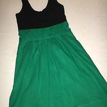 Express Black & Green Sundress Dress Spring Summer  Size 2  Photo