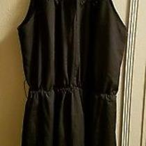 Express Black Halter Dress. Medium.  Photo