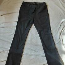 Express Black Heather Dress Pants Size 8 Straight Leg Stretch  Photo