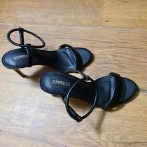 Express Black Heeled Sandal Size 7 Photo