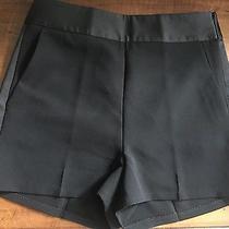 Express Black High Waist Tuxedo Shorts Nwt 4 Photo