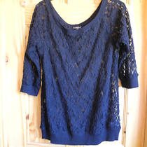 Express Black Lace Blouson Top Size Small Photo