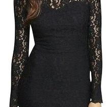 Express Black Lace Open Sheath Dress Size Xs Photo
