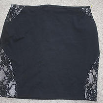 Express Black Lace Stretch Fall Skirt 4 Photo
