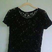Express Black Lace Top Photo