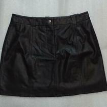 Express Black Leather Mini Skirt. Size 3/4 Photo