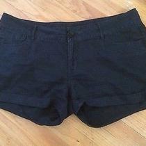 Express Black Linen Shorts Women's Size 12 Photo