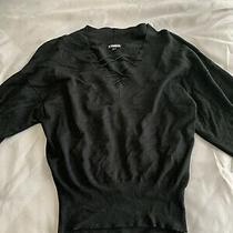Express Black Long Sleeve Strappy Top Size Xs Photo