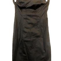 Express Black Mini Wiggle Dress Size 1/2 Lace-Up Corset Back Goth Club Euc 66 Photo