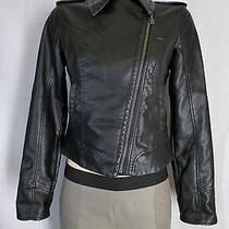 Express Black Minus the Leather Asymetrical Zip Motorcycle Jacket Sz Xs Photo