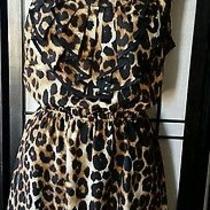 Expressblack Multi-Color Animal Print Empire Waist Sleeveless Dress Size 7/8 M Photo