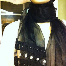 Express Black Nylon Trendy Scarf or Wrap 24