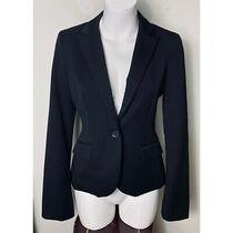Express Black One Button v-Neck Collar Blazer Suit Jacket Size 4 Small Tailored Photo