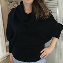 Express Black Oversized Puff Turtleneck Sweater Size Xs Boho Style Photo