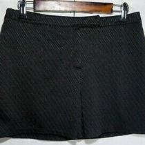 Express Black Pinstripe Polyester Skirt Womens Size 7/8 Photo