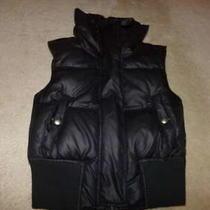 Express Black Puffer Vest Down Filled Women's Small Euc Photo