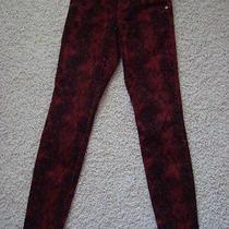 Express Black Red Skinny  Jeans Denim Bottoms 2 Summer Fall Photo