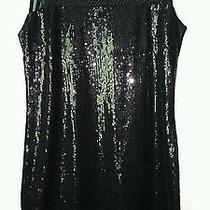 Express Black Sequin and Mesh Party Dress--Sleeveless--Medium--Euc Photo
