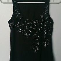 Express Black Sequin Embellished Sleeveless Top in Xs Photo