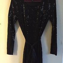 Express Black Sequin Short Dress -Xs  Photo
