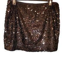 Express Black Sequin Skirt New Size S  Photo