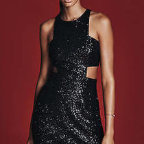 Express Black Sequin Sparkly Cocktail Party Dress Size 0 Brand New Photo