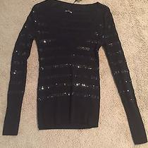 Express Black Sequin Sweater Size Small S Nwt... Super Cute Photo