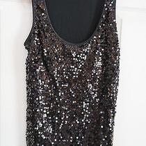 Express Black Sequin Tank - Size Small Photo