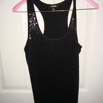 Express Black Sequin Tank Top Size M Photo