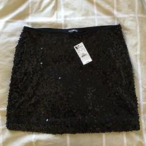 Express Black Sequined Skirt - Xs Photo