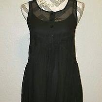 Express Black Sheer Babydoll Dress Size Extra Small Photo