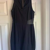 Express Black Sheer Mesh Cut Out Sides Bodycon Clubbing Dress Euc Sz 6 Photo