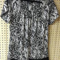 Express Black Silver 95% Silk Mini Short Sheath Dresssize M Nwot Photo