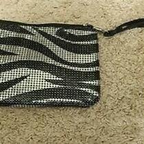 Express Black & Silver Sequin Wristlet Clutch With Zipper New With Out Tag Photo