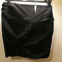 Express Black Skirt Cute Cross Bow in Front Size 6 Photo