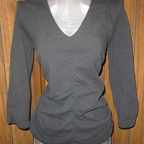 Express Black Soft Knit Ruched Top Misses Xl Guc Photo