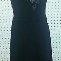Express Black Strapless Cocktail Dress Size 1/2 100% Polyester Photo