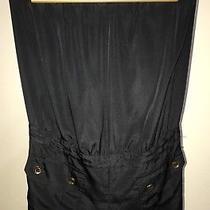 Express Black Strapless Shorts Romper/jumpsuit Womens/misses/juniors Sz 8 Med Photo