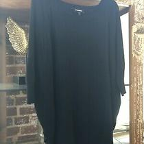 Express Black Sweater Tunic 3/4 Length Sleeves Size Xl Photo